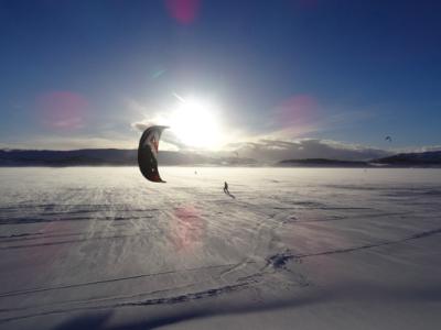 Snowkiten Norwegen